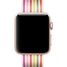 Apple Watch 42mm Band: Pink Stripe Woven Nylon