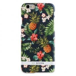 So Seven Rubber Jungle Pattern Ananas kryt pro iPhone SE / 7 / 8