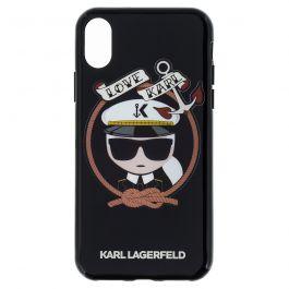 Kryt na iPhone X Karl Lagerfeld Karl Sailor - černý