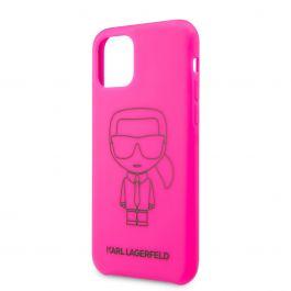 Karl Lagerfeld silikonový kryt pro iPhone 11 Pro Black Out - růžový