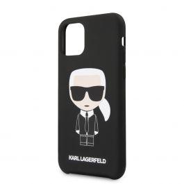 Karl Lagerfeld Iconic silikonový kryt pro iPhone 11 Pro - černý (EU Blister)