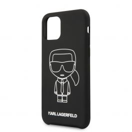 Karl Lagerfeld Ikonik Outline silikonový kryt pro iPhone 11 Pro - bílý