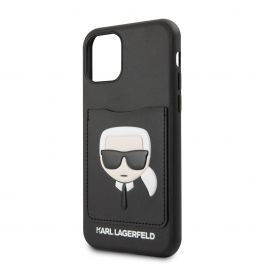 Karl Lagerfeld CardSlot kryt pro iPhone 11 Pro Max - černý