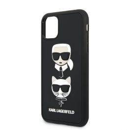 Karl Lagerfeld 3D Rubber Heads kryt pro iPhone 11 Pro Max - černý