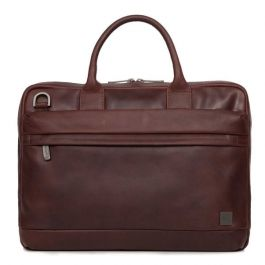 "Kožená taška na MacBook Pro až 14"" Knomo FOSTER - hnědá"