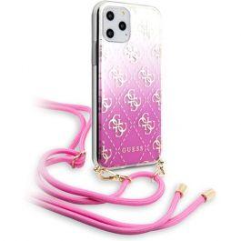 Guess 4G Gradient zadní kryt pro iPhone 11 Pro Max růžový