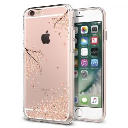 Kryt na iPhone 6/6s Spigen Liquid Crystal - průhledný shine blossom