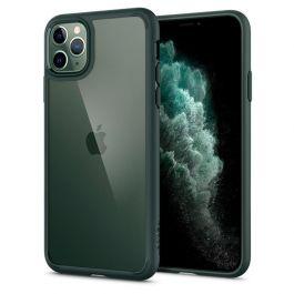 Ochranný kryt na iPhone 11 Pro Spigen Ultra Hybrid - tmavě zelený