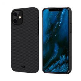 Kryt na iPhone 12 mini Pitaka MagEZ - černý/šedý
