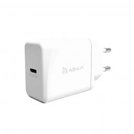 Adaptér Adam Elements F1 18W s podporou rychlonabíjení + USB-C/Lightning kabel - bílý