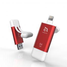 Flash disk Adam Elements iKlips II - 64GB, červený