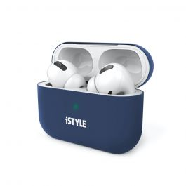 Silikonový kryt na AirPods Pro iSTYLE - modrý