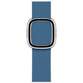 Apple Watch řemínek 40mm s moderní přezkou modro šedý střední