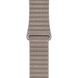 Apple Watch řemínek 44mm kožený provlékací kamenně šedý velký