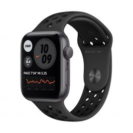 Apple Watch Nike SE GPS, 44mm vesmírně šedé pouzdro s Anthracite/Black Nike Sport řemínkem