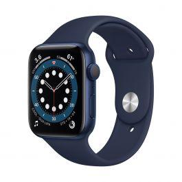 Apple Watch Series 6 GPS, 40mm pouzdro z modrého hliníku s námořnicky tmavomodrým sportovním řemínkem