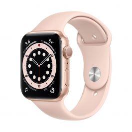 Apple Watch Series 6 GPS, 40mm pouzdro ze zlatého hliníku s pískově růžovým sportovním řemínkem