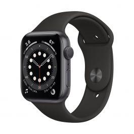 Apple Watch Series 6 GPS, 40mm vesmírně šedé pouzdro s Black Sport řemínkem