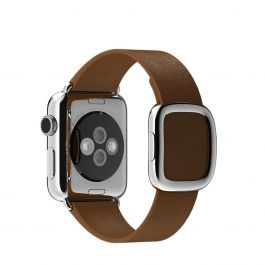 Apple Watch řemínek 38mm s moderní přezkou hnědý malý