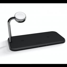 iPhone - bezdrátová nabíječka Zens Aluminium Dual na Apple Watch a 2x iPhone, černá
