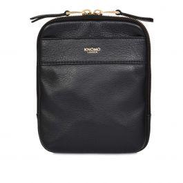 Dámská kožená taška přes rameno Knomo REX - černá