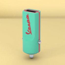 Adaptér do auta Tribe Vespa USB - akvamarínově zelený