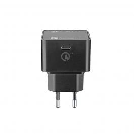 Adaptér Cellularline max. 30W s podporou rychlonabíjení - černý