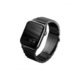 UNIQ STROVA článkový ocelový řemínek 44/42MM APPLE WATCH - černý