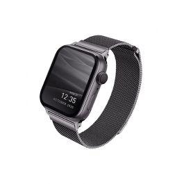 Ocelový řemínek UNIQ Dante pro Apple Watch 44/42mm - grafitový