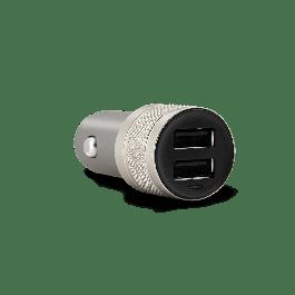 Duální nabíječka do auta EPICO DUAL CAR CHARGER (2x 2.4A) - vesmírně šedá