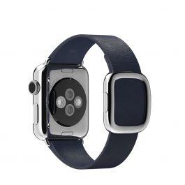 Apple Watch řemínek 38mm s moderní přezkou půlnočně modrý střední
