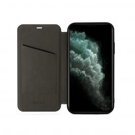 Kožené pouzdro EPICO s magnetickým zavíráním na iPhone 11 Pro - černé