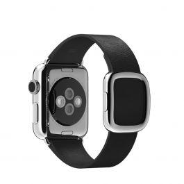 Apple Watch řemínek 38mm s moderní přezkou černý malý