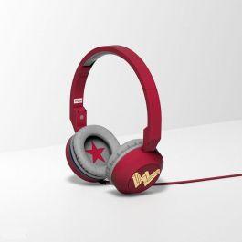 Tribe DC Movie Pop Headphones (Wonder Woman) - červený