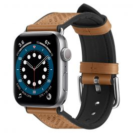 Řemínek pro Apple Watch 44/42mm - Spigen Retro Fit,  hnědý