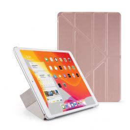 Pouzdro Pipetto na iPad 10.2 (2019) Metallic Origami Case - růžové zlaté