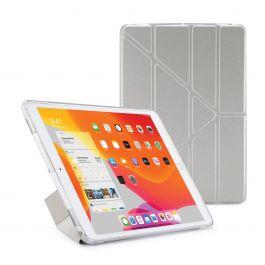 Pouzdro Pipetto na iPad 10.2 (2019) Metallic Origami Case - stříbrné
