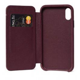 Obal na iPhone XR Decoded Slim Wallet kožený fialový