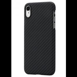 Kryt na iPhone XR Pitaka Aramid černo šedý