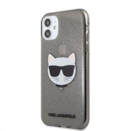 Kryt na iPhone 11 Karl Lagerfeld Choupette Head - černý