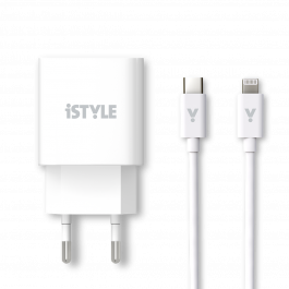 iStyle 20W PD adaptér s kabelem - bílá