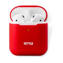 Silikonový obal na AirPods 2. generace iSTYLE - červený