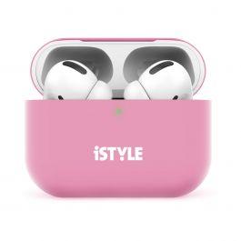 Silikonový kryt na AirPods Pro iSTYLE - růžový