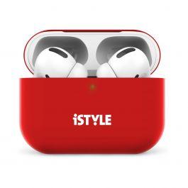 Silikonový kryt na AirPods Pro iSTYLE - červený