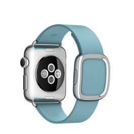 Apple Watch řemínek 38mm s moderní přezkou ledňáčkově modrý střední