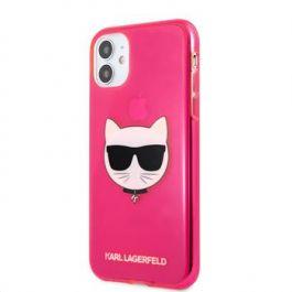 Kryt na iPhone 11 Karl Lagrfeld TPU Choupette - růžový