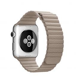 Apple Watch 42mm Band: Stone Leather Loop - Large