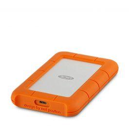 Externí disk Lacie Rugged USB-C 4TB stříbrný / oranžový