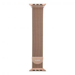 Kovový magnetický pásek pro Apple Watch 44/42 mm LAUT Stainless steel loop - zlatý