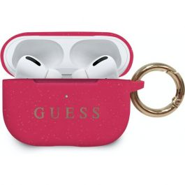 Guess Airpods Pro silikonový kryt - fuchsia